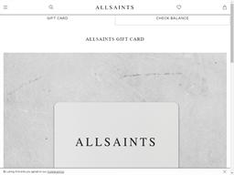 AllSaints gift card balance check