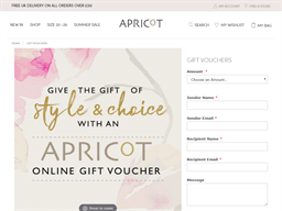 Apricot gift card purchase