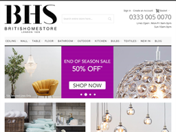 British Home Stores (BHS) shopping