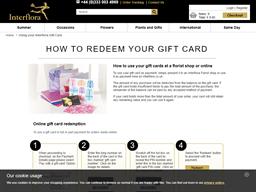 Interflora gift card purchase
