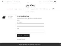 Joules gift card balance check
