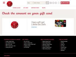 L'Atelier Des Chefs gift card balance check