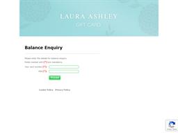 Laura Ashley gift card balance check