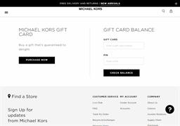 MICHAEL KORS gift card purchase