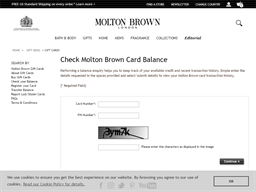 Molton Brown gift card balance check