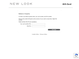 New Look gift card balance check