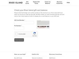 River Island gift card balance check