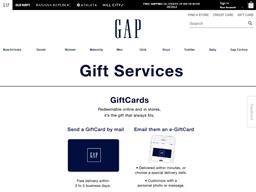 Gap Kids gift card purchase