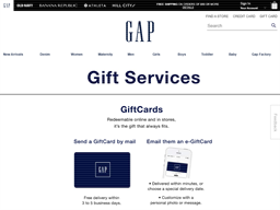 Gap Options gift card purchase