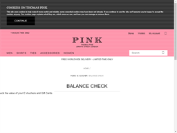 Thomas Pink gift card balance check