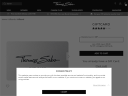 Thomas Sabo gift card balance check