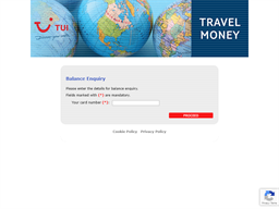 TUI Thomson Holidays gift card balance check