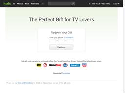 Hulu gift card balance check