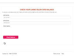 Lakme Salon gift card purchase