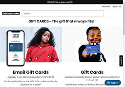 Kids Foot Locker gift card purchase