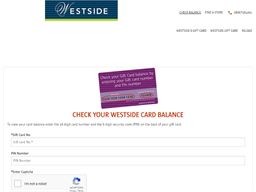 Westside gift card balance check