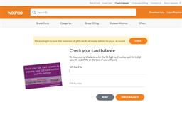 Woohoo gift card balance check
