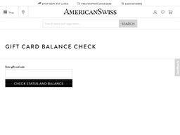 American Swiss gift card balance check