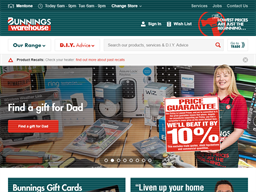 Bunnings Warehouse shopping