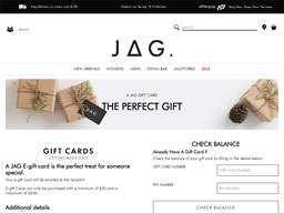 JAG gift card purchase