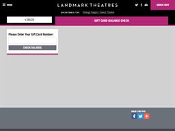 Landmark Theatres gift card balance check