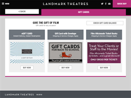 Landmark Theatres gift card purchase