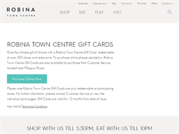 Robina Town Centre gift card purchase