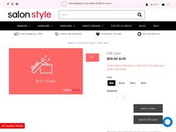 Salon Style gift card purchase
