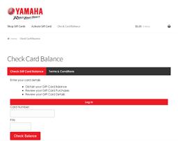 Yamaha gift card balance check