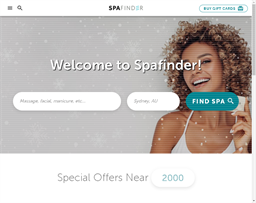 Spa Finder shopping