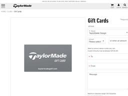 Adams Golf gift card balance check