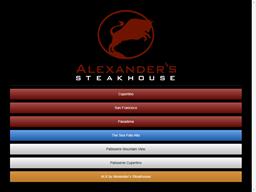 Alexander's Steakhouse shopping