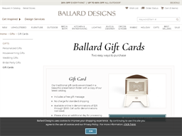 Ballard Designs gift card purchase