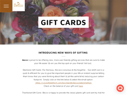 Becco gift card purchase