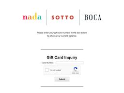Boca gift card balance check