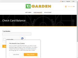 TD Garden gift card balance check