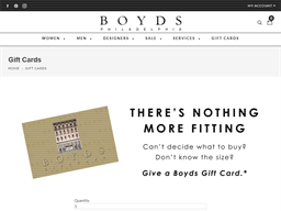Boyds gift card purchase