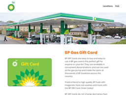 BP Gas gift card purchase