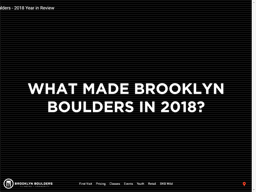 Brooklyn Boulders shopping