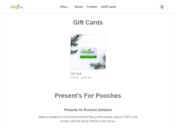 Bubbly Paws gift card purchase