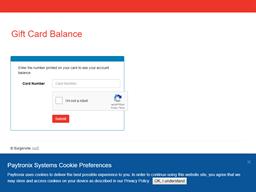 Burgerville gift card balance check