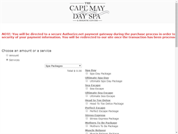 Cape May Day Spa gift card purchase