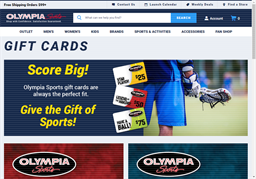 Olympia Sports gift card purchase