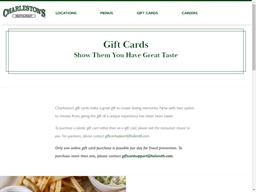 Charleston's gift card purchase