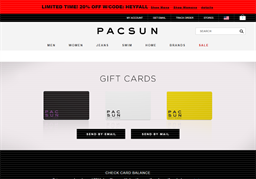 PacSun gift card purchase