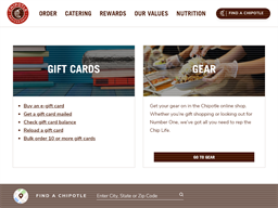 Chipotle gift card balance check