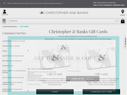 CJ Banks gift card purchase
