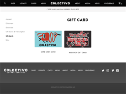 Colectivo Coffee gift card purchase