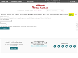 Cost Plus World Market gift card balance check