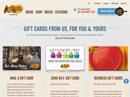 Cracker Barrel Old Country Store gift card purchase